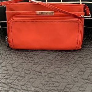 Small orange handbag